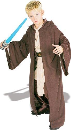 Robe Kostüm Deluxe Kinder Jedi - Rubie's Star Wars Deluxe Kinder Jedi Robe Kapuze Gr. 5 bis 7 J.