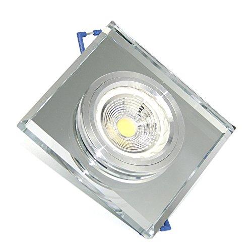 Kit lumière blanc chaud Spot orientable Pas logement Éclairage de LED encastrable Design Verre Noir Spot 7 W 230 V | Kit complet