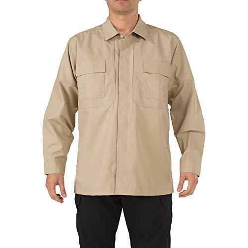 5.11Tactical # 72002Ripstop TDU Long Sleeve Shirt Medium TDU Khaki -
