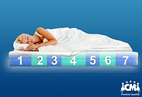 Florence Premium 7 Zonen Tonnen-Taschenfederkernmatratze 160x200 cm. Härtegrad H3. Klimafaser, atmungsaktiv, Aloe Vera Premium Bezug. Tonnentaschenfederkern Matratze H3. Schlafen wie auf Wolken.