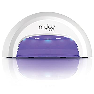 New Mylee High Quality LED Lamp With Convex Curing Technology 5-finger Dome Lamp, Cures Gel Polish in seconds with 15, 30 and 60 Second Timer. Features a Removable Magnetic Tray and Touch Sensitive Buttons by MYLEE