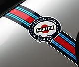 MARTINI CLUB stil 'Blitze' logo streifen PORSCHE FIAT ABARTH LANCIA ALFA ROMEO
