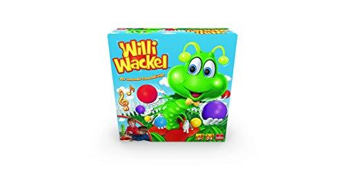 Goliath 30960 Willi Wackel | Rappel Zappel lustiges Aktions-Spiel | tanzender Tausendfüßler als Geschicklichkeits-Spiel | kindgerechtes Mehrspieler-Spiel ab 4 Jahren | Kinder Spielzeug mit witziger Musik (Spiele Spielzeug Und)