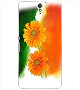PRINTSWAG FLOWERS Designer Back Cover Case for SONY XPERIA C5