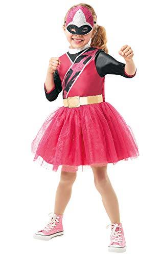 Rubie's Offizielles Power Rangers Ninja Steel Kostüm - Pink Ranger Kinderkostüm, Größe S, 3-4 - Offizielle Power Ranger Kostüm