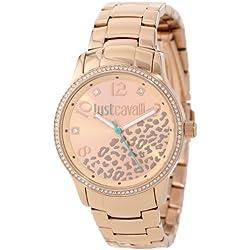 Just Cavalli Damen-Armbanduhr HUGE Analog Quarz Edelstahl R7253127510
