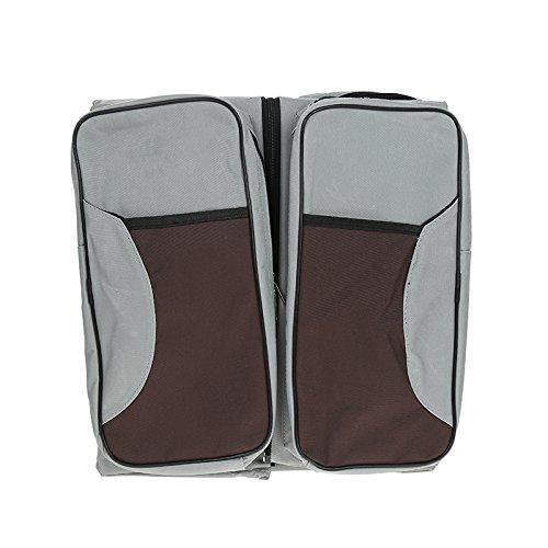 Preisvergleich Produktbild Wickeltaschen Care Packages Babytasche Mum Taschen Multifunktions große Kapazität Taschen Mum Taschen Portable Klappbetten Die Größe der Krippe 75x35x18 (grau)
