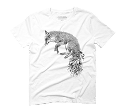 Fox Men's 3X-Large White Graphic T-Shirt - Design By Humans