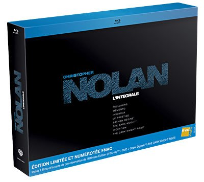 Christopher Nolan - komplettes 7 Film Set von Fnac Exklusiv - Limited Edition + Platz 8 für The Dark Knight Rises (Blu-ray + DV