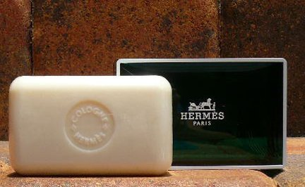 Three (3) Luxury Hermes Jumbo Soaps Eau d'Orange Verte Gift Soap From Hermes Paris 5.2oz / 150g Perfumed Soap / Savon Parfume