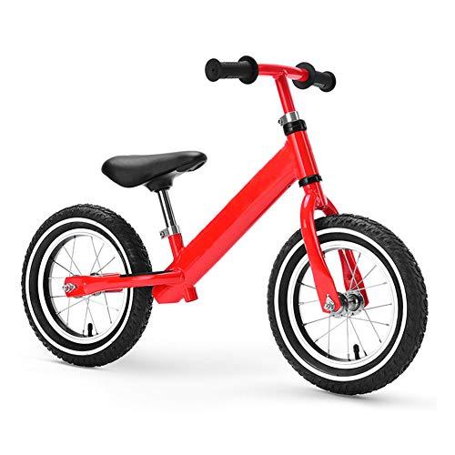 Kinder Fahrrad,Kostenloser fahrradverleih fuß,Kinder Scooter 2-3-4-6 jährige Baby schiebe-LKW Sport Balance Fahrrad-Rot A 34.2Zoll