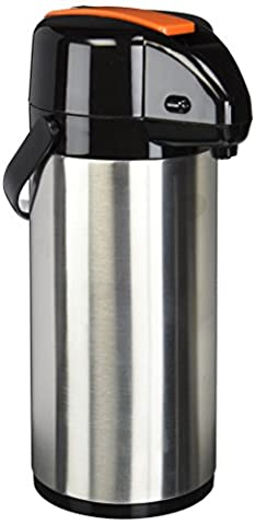 Winco Lever Top Stainless Steel Lined Airpot, 2.5-Liter, Decaf