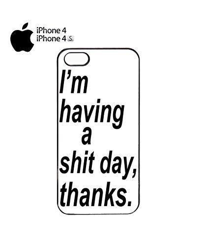 I'm Having A Sh*t Day Thanks Tumblr Instagram Fashion Mobile Phone Case Cover iPhone 6 Plus + Black Noir