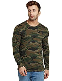 LE BOURGEOIS Camouflague Full Sleeve T-Shirt for Men