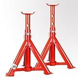 2 x Torrex Unterstellböcke 2,0 T höhenverstellbar und faltbar aus Stahl