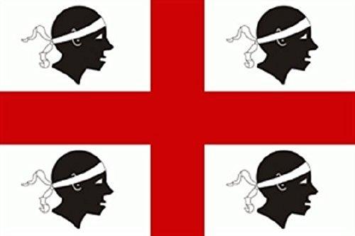 U24 Fahne Flagge Sardinien Bootsflagge Premiumqualität 20 x 30 cm