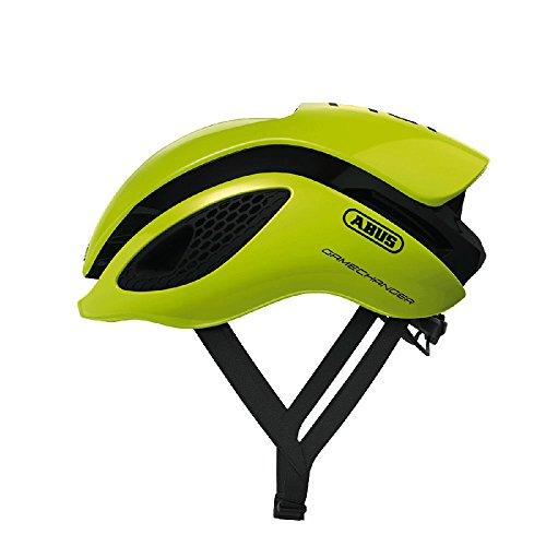 fahrradhelm neon gelb Abus Gamechanger Aero-Helm Fahrradhelm, neon Yellow, M