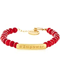 Vogue Empower by Amrapali Charm Bracelet for Women (Red) (EMP-BRACE)