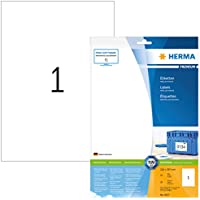 Herma 8637_ A4, 210 x 297 mm - Pack de 10 etiquetas, A4, 210 x 297 mm, color blanco