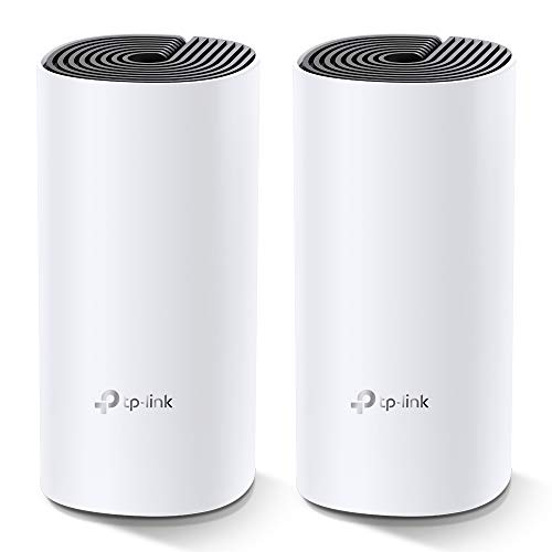 TP-Link Deco M4 Whole Home Mesh Wi-Fi System, Seamless and Speedy Up To 2800 Sq ft coverage, Work with Amazon Echo/Alexa and IFTTT, Router and Wi-Fi Booster Replacement, Parent Control, Pack of 2