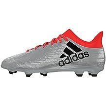 pretty nice 9e325 b4d93 adidas X 16.3 FG, Botas de fútbol para Hombre, Plateado (Silver),