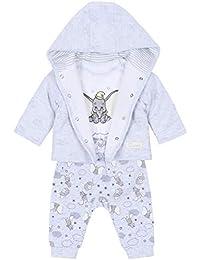 Juego de bebés: Sudadera, Pantalones + Body Dumbo Disney