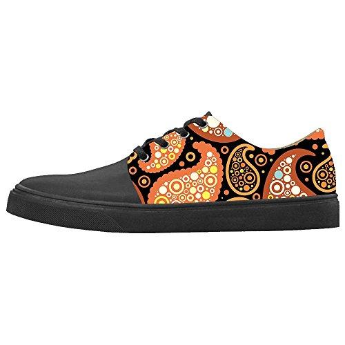 Dalliy Paisley Colored Print Women's canvas Footwear Sneakers Shoes Chaussures de toile Baskets C