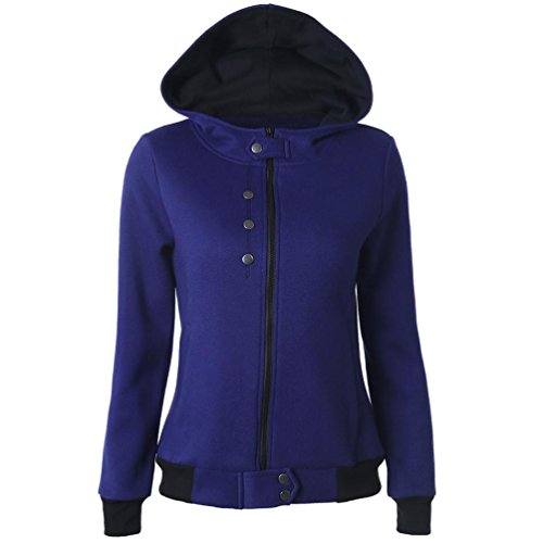 Bekleidung Longra Herbst Winter Sweatshirts Kapuzen Kapuzenpullover Langarm Frauen Normallacks mit Reißverschluss...
