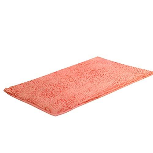 Baijiaye Tappeto da Bagno Assorbente Tappeto da Camera Ingresso Shaggy Tappeto da Cucina Microfibra in Ciniglia Rosa