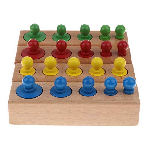 Sharplace Juguete Montessori Madera Tablero Cilindro