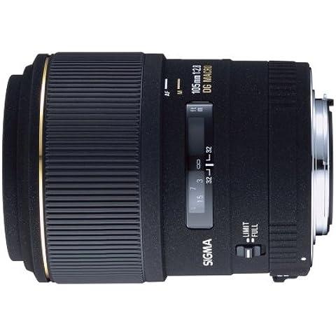 Sigma - Objetivo 105 mm f/2,8 EX G con macro (rosca para filtro de 58 mm) para Canon