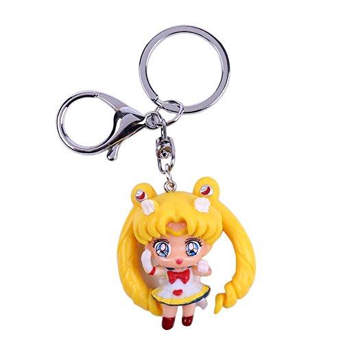 Bellenne Sailor Moon Schlüsselanhänger Schlüsselring Schlüsselbund Keychain (H01)