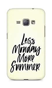 AMEZ less monday more summer Back Cover For Samsung Galaxy J1 (2016 EDITION)