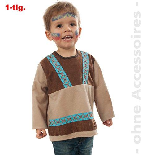 Kostüm Baby Indianer - narrenwelt Indianer Kleiner Bär Indianerjunge Oberteil Baby Kleinkind Kostüm Kinder-Kostüm Gr 86