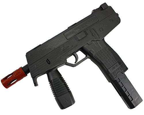 ab 3 Jahre Softair Airgun Gewehr Pistole Schwarz Magazin Federdruck MG9 0,08 Joule ()