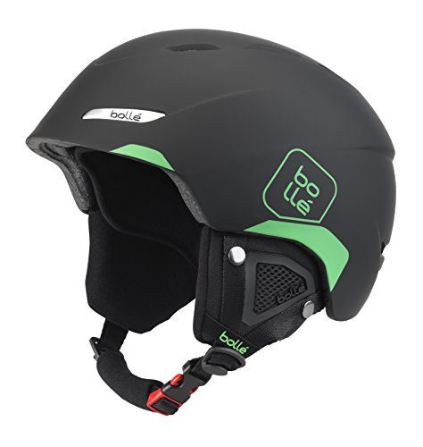Bollé Byond Cascos de ski, Unisex Adulto, Soft Black/Green, 54-58cm