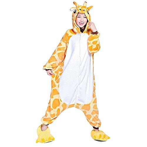 Unisex Onesie Pyjamas Overall Einteiler/Pyjama Schlafanzug Für Erwachsene Giraffe L (Erwachsene Giraffe Pyjama Kostüme)