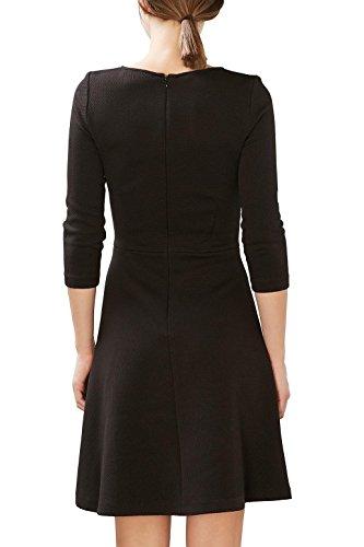 ESPRIT Damen Kleid 027ee1e011 Schwarz (Black 001)