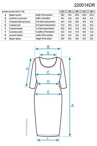 Ennywear 220014 Robe Midi Business Look Top Qualité Souple Feminin Une Couleur Col Officier- Fabriqué En UE Bleu Marine