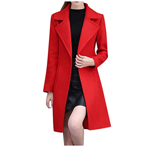 ➤Refill➤ Der Black Friday Damen Mantel Trenchcoat Wintermantel Übergangs Jacke Parka Lange Wollmantel Trenchcoat Übergangs Jacke