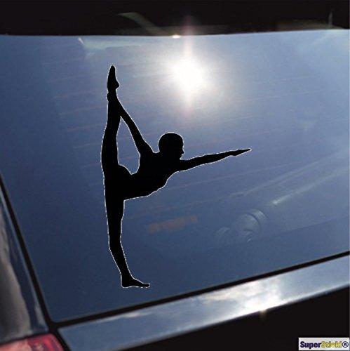 Balletttänzerin tanzen turnen Gymnastik typ 9 Aufkleber ca. 20 cm Autoaufkleber Tuningaufkleber von SUPERSTICKI® aus Hochleistungsfolie für alle glatten Flächen UV und Waschanlagenfest Tuning Profi Qualität Auto KFZ Scheibe Lack Profi-Qualität Tuning