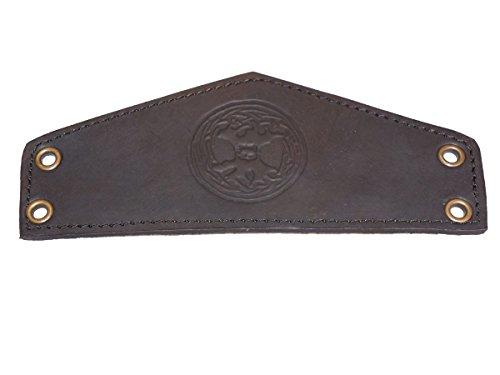 Trollfelsen Mittelalter Accessoire Armband aus Echtleder mit Motiv