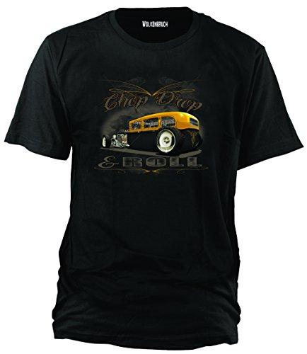 Wolkenbruch® T-Shirt Chop Drop & Roll Hot Rod, Gr.XL (Herren Drop T-shirt)