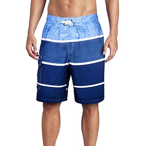 Beach Wear Herren Badehose Freizeit Short Schnelltrocknend Badeshorts EHS006-3XL