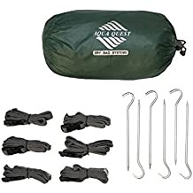 Aqua-Quest 'The Guide' Waterproof & Ultra Lightweight Silicone Sil Tarp - 2 x 3 Medium Green Model - Patio Swing Canopy