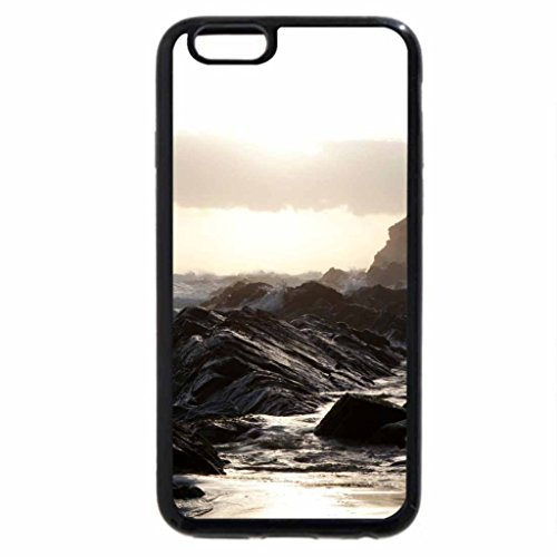 iPhone 6S / iPhone 6 Case (Black) Oceans and Rocky Headland