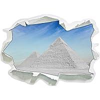 meraviglia mondo egizio, le Piramidi di Giza nero / bianco, carta da parati 3D formato adesivo: 92x67 cm decorazione della parete 3D Wall Stickers parete decalcomanie