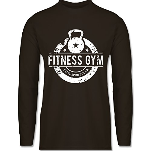 Shirtracer CrossFit & Workout - Fitness Gym Elite Sport Club - Herren Langarmshirt Braun