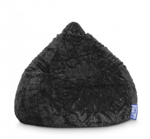Sitting Point Sitzsack Fluffy XL ca. 220 Liter schwarz