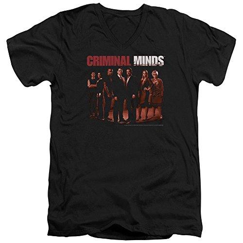 Criminal Minds TV Show CBS The Crew Adult V-Neck T-Shirt Tee